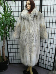 BRAND NEW NATURAL MONTANA LYNX BELLY (ONLY) FUR COAT JACKET WOMEN WOMAN SZ ALL