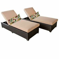 Miseno CLASSIC-2x-WHEAT Traditions 2-Piece Outdoor Chaise Lounge Chair Set