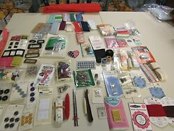 MIXED LOT OF ASSORTED VINTAGE & NEW SEWING SUPPLIES NOTIONS CRAFTS  3