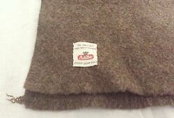 Vintage AaBe Brand FullDouble Green Brown Heavy Wool Blanket Army Use