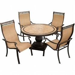 Monaco Outdoor Patio Dining Set 5 Pieces (4 High Dining Chairs 51