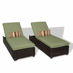Miseno VENICE-2x-CILANTRO 2-Piece Aluminum Framed Outdoor Chaise Lounge Set