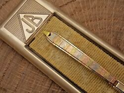 Vintage Ladies JB Champion Multi color gold filled watch band New Old Stock $79.00