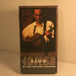 VHS JAMES TAYLOR LIVE BEACON THEATRE SEALED NEW COLUMBIA MUSIC VIDEO 1998 SONY