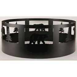 Coast Lamp Rustic Living Pine Tree & Campfire Ring Black - 15-R30E