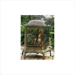 Oakland Living 8026-AB Pentagon Fireplace With Grill Antique Bronze