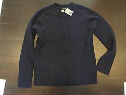 J.Crew Cashmere Saddle Sweater Navy Blue NWT Small