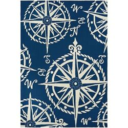 Couristan Outdoor Escape Mariner Navy & Ivory IndoorOutdoor Rug