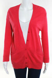 Equipment Femme Pink Cashmere Carmine Cardigan Sweater Size Extra Small JG09
