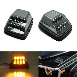 Smoked Lens Amber LED Turn Signal Lamps wWhite LED Parking For Mercedes G-Class $100.09