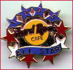 Hard Rock Cafe STAFF PIN 1995 ALL STAR Grid with 2LC HRC Catalog #3476 $9.99