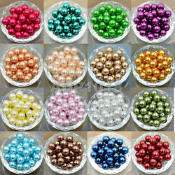200pcs Top Quality Czech Glass Pearl Round Loose Beads 3mm 4mm 6mm 8mm 10mm 12mm $4.99