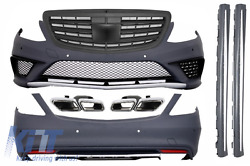 Body Kit For Mercedes  W222 S 13+ S63 AMG Look+Exhaust Muffler Tips+Grille
