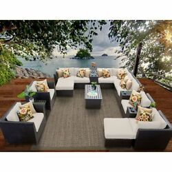 Miseno BARBADOS-17a-BEIGE Carribean 17-Piece Outdoor Furniture Set