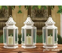 10 White colonial western shabby Candle holder lantern wedding table centerpiece
