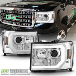 Updated LED Tube Style 2007-2013 GMC Sierra 1500 2500 3500 Projector Headlights $262.99