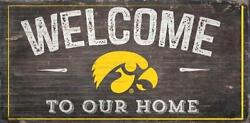 Iowa Hawkeyes Welcome to our Home - Wood Sign NEW 12