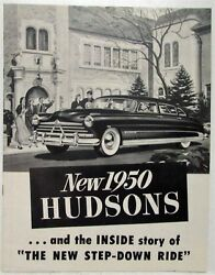 1950 Hudsons and the Inside Story of the New Step-Down Ride Sales Brochure