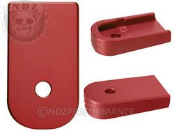 for Glock 43 G43 Textured Floor Base Magazine Mag Plate Red Pick Lasered Image $14.95