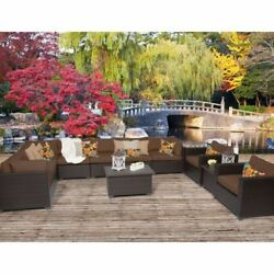 Miseno BELLE-11a-COCOA Anabelle 11-Piece Outdoor Furniture Sets and Club Chairs