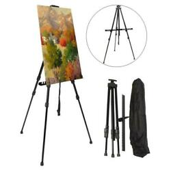 Art Tripod Painters Easel Stand Adjustable Floor Easel Boards Bag for Artist $16.69
