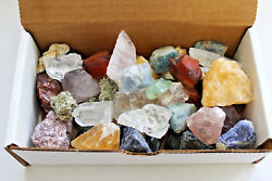 Bulk Crafters Collection 1 2 lb Box Gems Crystals Natural Raw Mineral 250g Rocks $14.35