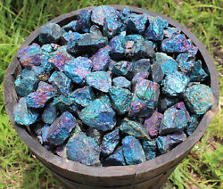 12 lb Bulk Lot Raw Rough Natural Chalcopyrite Gemstone Peacock Ore Rock (8 oz)