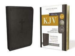 Kjv Reference Bible Compact Large Print Leathersoft Black Red Letter Editi