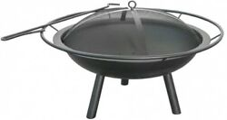 Home Outdoor 28.5-in W Black Steel Wood-Burning Fire Pit Tool New Free Shipping!