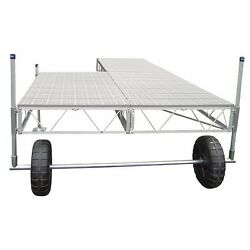 32' Patriot Docks Straight Roll-in boat patio Dock with poly Deck decking