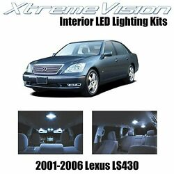 XtremeVision Interior LED for Lexus LS430 2001 2006 9 Pices Cool White $10.99