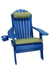 New Deluxe Outer Banks Poly Wood Adirondack Chair Package w Foot Rest