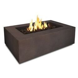 Real Flame Baltic Rectangle Natural Gas Fire Table in Kodiak Brown - T9650NG-KB