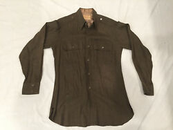 ORIGINAL PRIVATE PURCHASE US ARMY WOOL OFFICERS SHIRT 14-12 X 33