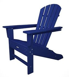 POLYWOOD South Beach Ultimate Adirondack wHideaway Ottoman in Pacific Blue NEW