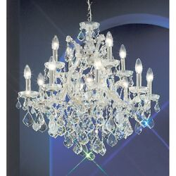 Classic Maria Theresa 13 Lt Chandelier Chrome Crystal Elements - 8133CHS