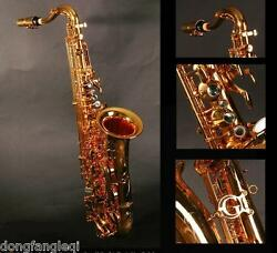 Professional Eastern Music C key saxophone gold lacquer with hard case