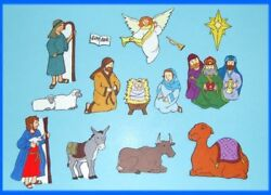 Nativity Birth of Jesus . Christmas Bible Felt  Flannel Board Story