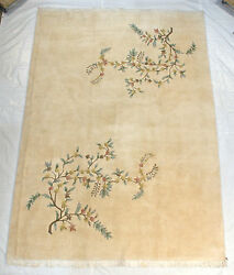 RRA 10x14 Indo Chinese Floral Spray Design Ivory Rug 23341