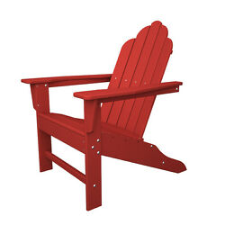 POLYWOOD ECA15-SR Long Island Adirondack in Sunset Red NEW