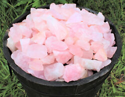 3 lb Bulk Lot Natural Rough Rose Quartz Crystals (Raw Reiki Love Stone Healing)