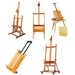 Portable Wooden French Easel PaintBox Tripod Stand w Display Artist Drawing Art