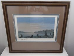 FRAMED LIMITED SIGNED LITHO PRINT BUTLER BROWN SUNSET AT BLACKSHEAR  27100