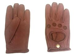 Mens Driving Gloves Leather Top Quality Genuine Low Price Stock Clearance GBP 5.99