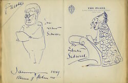 James THURBER (Writer): Sketches of Edith and Osbert SITWELL reading WALTON
