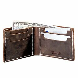 Baurdi Admiral Men's Genuine Italian Leather Bifold Wallet Billfold