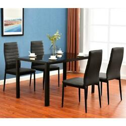 New 5 7 Piece Dining Table Set Different style tables Glass Metal Furniture US $99.90