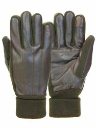 Mens Cuffed Brown Leather Touchscreen Text amp; Tech Gloves Thinsulate $28.99