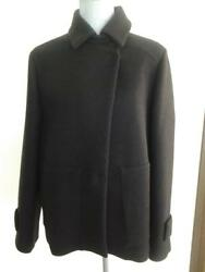 Brunello Cucinelli Woman's Graphite Cashmere Blend Jacket Coat sz