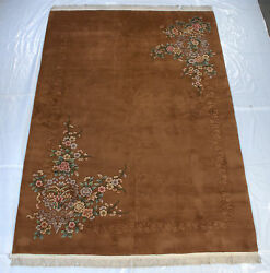 RRA 10x14 Chinese Art Deco Design With Shadow Border Copper Rug 28555